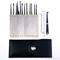 Wholesale lock opener kit for sale - Group buy Stainless Steel Lock Pick Kit Removal Key Set Locksmith Tools Door Lock Opener