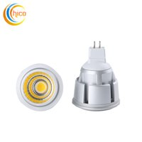 светодиодный индикатор mr16 12v 3w оптовых-Супер яркий COB GU10 MR16 Led 3 Вт 5 Вт 7 Вт лампы Светодиодные лампы прожектор лампы 85-265 в 12 В лампа downlight badroom лампы