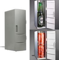 mini taşınabilir buzdolapları toptan satış-Taşınabilir Mini USB PC Araba Dizüstü Buzdolabı Soğutucu Mini USB PC Buzdolabı Isıtıcı Soğutucu İçecek İçecek Kapları Dondurucu