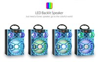 Wholesale bass speaker stand - LED Mobile Multimedia MS-188BT Wireless Bluetooth Speaker Big Drive Unit Bass Colorful Backlight FM Radio Music Player MOQ:10PCS