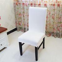 yüksek sandalye toptan satış-1 Parça Modern Bej Sandalye Düğün Ziyafet Ofis Otel için Kapakları Polyester Spandex Katı Şerit Sandalye Kapak Yüksek Kalite Pa.