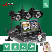 Wholesale Security Camera 48ir - ANRAN CCTV P2P 4CH 720P HD 7 Inch LCD Monitor WIFI NVR Network IP66 IP Cameras 48IR Home Security Surveillance System With 1TB HDD
