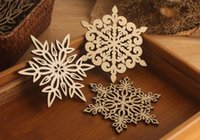 Wholesale Wooden Snowflakes - Wooden Snowflake Mug Coasters Holder Chic Drinks Coffee Tea Cup Mat Decor Mats