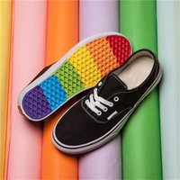 Wholesale Denim Canvas Shoes Boy - Lows Rainbow Casual Shoes for Men Slip on Black Canvas Shoes for Boys Girls for Work Wedding Sneakers 3 Colors Size 36-44 Free Shipping