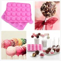 Silicone 20 Lollipop Sticks Pop Mold Maker Bolo Cookie Chocolate Bakeware Mold