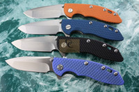 cuchillos de caza de acero d2 al por mayor-Versión de Jabalí Rick HINDERER CTS XM-18 Titanio + G10 Cuchilla plegable de acero de alta velocidad D2 Mango D2 para acampar herramienta EDC