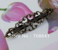 Wholesale Diy Clips Antique Bronze - Vintage Antique Bronze Blank Bases Filigree Flower Hairpins Hairwear Hair Clips Diy Jewelry Making Settings Findings Wholesale