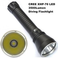 Wholesale Professional Swimming Pool - AloneFire DV15 CREE XHP70 Flashlight LED 3500 lumens Professional Diving 100M Aluminum light cup Power Promise dimming Outdoor light