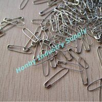 Wholesale Wholesale Safety Pins Nickel - pack of 2000 U Shaped 22mm Nickel(silver) french Coiless Safety Pins good for hanging garment tags