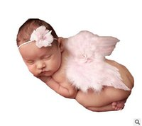 Wholesale Super Cute Soft Adorable Newborn Baby s Girls Clothes Skirt Sets Lace Headwear Angel Wing Newborn Photography Props