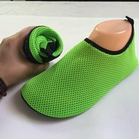 Wholesale Shoes For Swimming - Brand Summer Women Men Flats Sandals Shoes Swimming Shoe For Unisex Soft Breathable Flat Protable Shoe