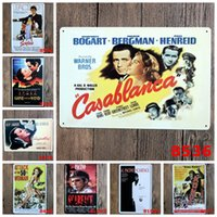 "Wholesale Famous Paintings Posters - Hot sales ""Famous Hollywood Movie Poster"" Tin signs movie poster Art House Cafe Bar Vintage Metal Painting wall stickers home decor 20X30 CM"