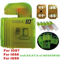 Wholesale RSIM Unlock Card for iphone s S S ios9 X G G CDMA Sprint AU Softbank s direct use no Rpatch bud green