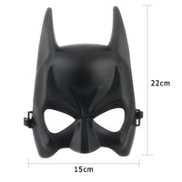 1pcs Hot Halloween Batman Mask Adulto Black Masquerade Party Carnival Dressing Upper Half Face Mask para o homem Cool Face Costume Kit