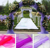 Wholesale Heart Shaped Arches - 2017 HOT 0.75*10M Wedding Decoration Organza Silk Flower Heart-shaped Arches Sheer Crystal Organza Fabric Flower Door MYY