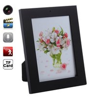 Wholesale Mini Video Frames - 32GB HD 1280x960 Black Photo Frame Mini Covert DVR Audio Video Recorder Spy Camera Hidden Candid Camera Home Security Cam Monitor Nanny DVR