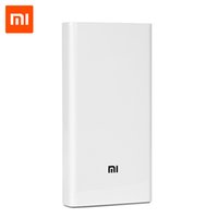 Wholesale Original Mobile Phone Batteries - Original Xiaomi Power Bank 20000mAh 2 Portable Charger Dual USB Mi External Battery Bank 20000 for Mobile Phones and Tablets