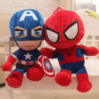 2017 neue Captain America Stuffed Animals Puppe The Avengers Superman Spiderman Batman Plüschtiere Marvel Heros Action Figur Kinder Geschenke F022
