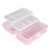 Wholesale- New 2017 Fashion Nail Art Tool Box Multi Utility Storage 3 Layer Plastic Case Makeup Craft Manicure Salon Kit Accessoires