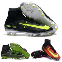 Wholesale Ankle Boots 11 Men - New Mercurial Superfly V AG Men Boots High Mercurials Superflys V CR7 AG Assassin 11 Shoes Size 39-45