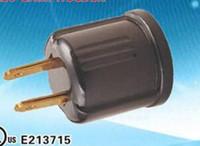 Wholesale Socket Plugs - Non-Grounding Usa plug Ploarized Socket Adapter Converts Outlet to E26 Lamp Socket 125 Volt 2-Wire NEMA 1-15R Black 125VAC 660W