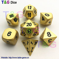 Wholesale Digital Matte Box - T&G Brand New Matte Gold Metal Dice with Black Digital Plus Metal Boxes Fun Family Game Cube Entertainment