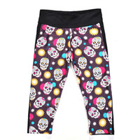 Mujeres Moda Color Skull Galaxy Legings Púrpura Diving Pantalones Capris Impreso Sky Space Stretchy Breathe Navidad Caliente Jeggings Slim Tights