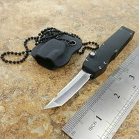 Wholesale Mini Blades - halo mini halo V D2 tanto blade single action neck Pocket Knife Survival Knife Xmas gift for men 1pcs
