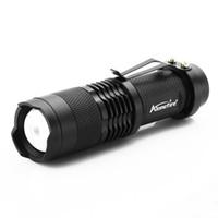led mini lampe de poche rechargeable livraison gratuite achat en gros de-En gros new arrive Mini LED Torch 7W 1200LM CREE XPE Q5 LED lampe de poche Focus réglable Zoom Flash Light Lamp Livraison gratuite en gros SK68