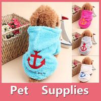 Wholesale Wholesale Hood T Shirts - Small Pets Winter Warm Fleece Dog Jacket Coat Clothes Hoodie Hood Sweater Costume Pet Supplies 160918