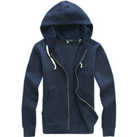 Wholesale Cardigan Hoodies - Free shipping 2017 new Hot sale Mens polo Hoodies and Sweatshirts autumn winter casual with a hood sport jacket men's hoodies