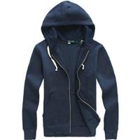 erkek polosu toptan satış-Ücretsiz kargo 2017 yeni Sıcak satış Mens polo Hoodies ve Tişörtü sonbahar kış rahat bir kaput ile spor ceket erkek hoodies
