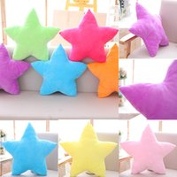 107 HANCHENTE Colorful Star A Forma di Cuscino Federe Divano Decor Cuscino Nap Companion Cuscino Camera Da Letto Sedia Decor Cuscino Rosa Rosso Giallo
