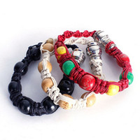 rasta armbänder großhandel-Neue tragbare Metall Armband Rauch Pfeife Jamaika Rasta Rohr Farben Geschenk für Mann und Frau