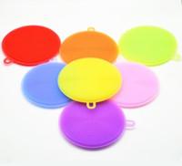 pan multi fonctions achat en gros de-8 couleurs Multi-fonction Magic Silicone Dish Bowl Brosses de nettoyage Pad Pot Pan lavage Cleaner Cuisine Accessoires