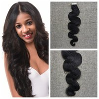 "Wholesale 14 Hair Extensions Body Wave - 2017 Wholesale Brazilian Body Wave Skin Weft hair Tape in human hair Extensions virgin Brazilian hair 14""-24"" on sale"