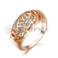 Wholesale Jewelry Settings Use - Yoursfs 18K Rose Gold Plated Unique Crystal Ring Use Austrian Crystal Fashion Jewelry