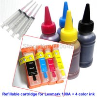Wholesale Ink Cartridges Arc - Refillable ink cartridge for Lexmark 100 100A 100XL with ARC chip for lexmark S305 S308 S402 S405 S408 S502 + 400ml dye ink Rated 4.5 5 base