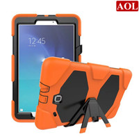 Wholesale galaxy tablet waterproof case - Hard Stand Case For Samsung Galaxy Tab E 9.6 T560 T561 Tablet Heavy Duty Rugged Impact Hybrid Case Kickstand Protective Cover