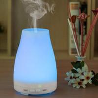 humidificador emf al por mayor-La aromaterapia humidificador ultrasónico de vapor frío difusor de aceites con color luces LED difusor de aceites esenciales sin agua Apagado automático