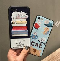 Per iPhone 7 6 6 s plus 5 5 s se 6plus 7plus Caso 3D Kawaii Cute Cartoon Cat Stampa Animale Copertura della cassa del telefono mobile per Huawei P9 P10 Plus