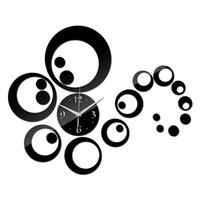 Wholesale Large Decorative Mirrors - 2016 new wall clock reloj de pared diy clocks quartz watch living room acrylic europe large decorative horloge mirror s free shipping TY1939