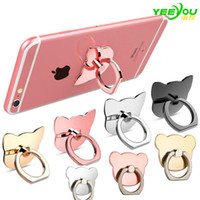 Wholesale Mobile Phone Brackets - Finger Ring Mobile Phone Ring Holder Bracket Metal Lazy Ring Buckle Mobile Phone Bracket 360 Degree Stand Holder For all Smart Phone