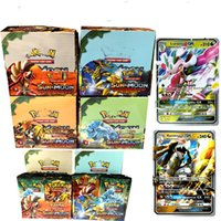 Wholesale Hot Anime - 2017 Hot 324pcs set Poke Trading Cards Sun and Moon Version Poke Card Children Kids Anime Cartoon Party Board Games Toys