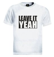 Wholesale breathable gag - Leave it Yeah T-Shirt Lethal Bizzle Urban Funny Gag Cool grime hip hop T Shirts Short Sleeve