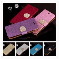 Wholesale 7562 Phone - Luxury Bling Glitter rhinestone Shinning Leather Case For Samsung Galaxy Note 4 Edge N9150 i699 7562 7575Cover Flip Phone Bag