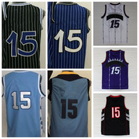 Wholesale College Sports Wear - 2016 College Men Basketball Jerseys Cheap #15 Throwback Sport Shirt Rev 30 Basket ball Wear Uniforms With Player Name Team Logo Best Quality