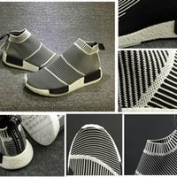 Wholesale Vintage Sport Socks - Hot Nmd City Sock Men Women Shoe Men NMD CS1 City Sock PK (Core Black Vintage White White Casual Sports Shoes S79150 Footwear