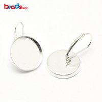 Wholesale Sterling Silver Earring Hooks Solid - 2016 the latest, hot style and sexy 925 Solid Silver earrings base round Sterling silver ear hook Joe