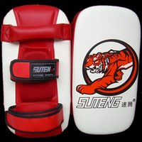 Wholesale Punching Bag Gloves - Wholesale-Boxing hand wraps Gloves Pads for Muay Thai Kick Boxing Mitt MMA Training PU foam boxer hand target Pad